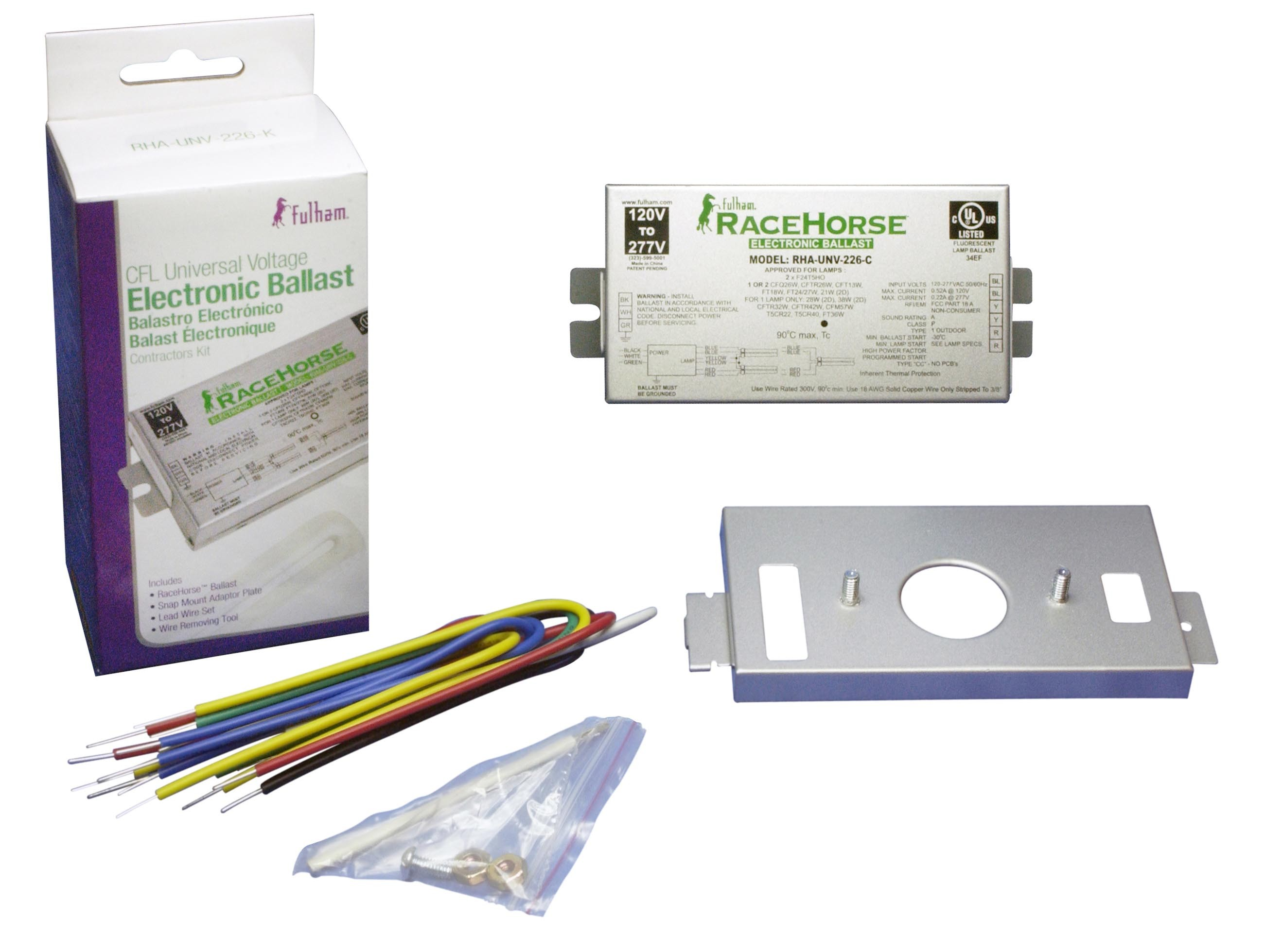 FULHAM RACE HORSE 3 CFL FLUORESCENT ELECTRONIC BALLAST CONTRACTOR KIT