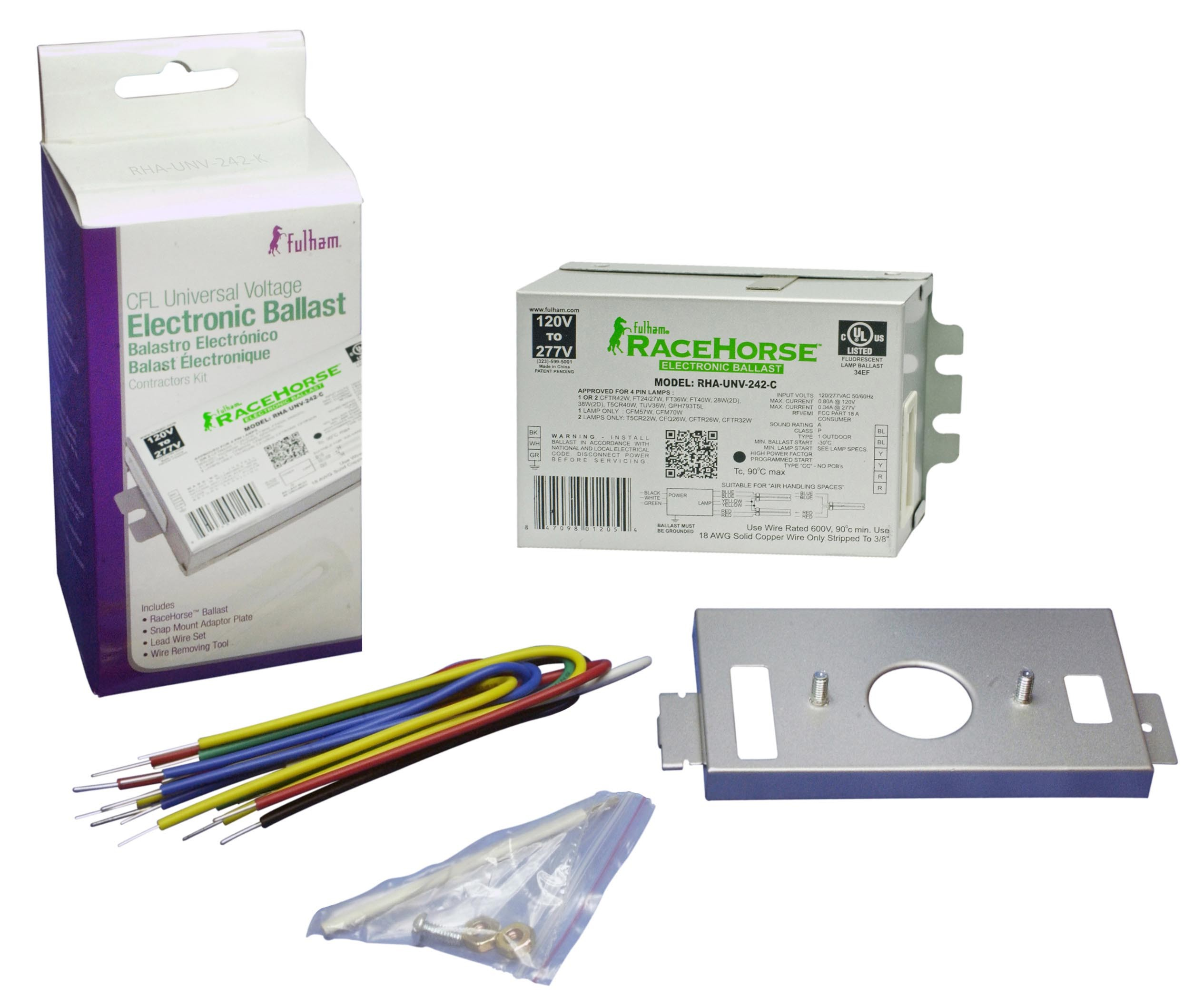 FULHAM RACE HORSE 4 CFL FLUORESCENT ELECTRONIC BALLAST CONTRACTOR KIT