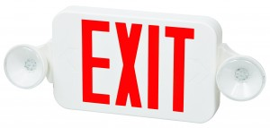 FULHAM DUAL HEAD EMERGENCY LIGHT WITH LED EXIT SIGN