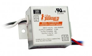 FULHAM THOROLED 350MA CONSTANT CURRENT 1-6W 120V LED DRIVER